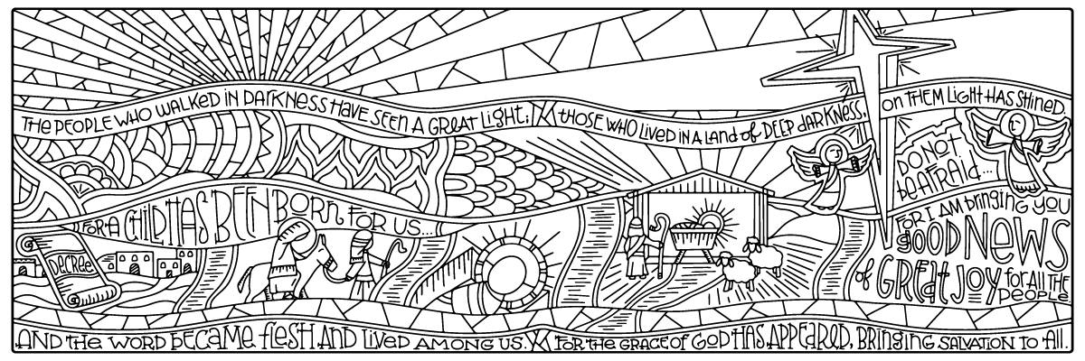 Make It An Intergenerational Activity 4 Advent Posters This One And Epiphany Find Out More About Journey Coloring