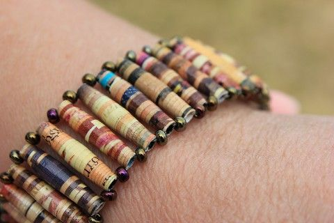 Paper Bead Bracelets Google Search
