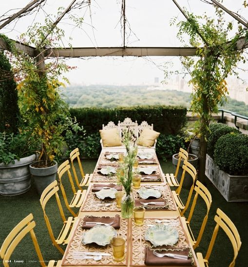 Rooftop dinner party