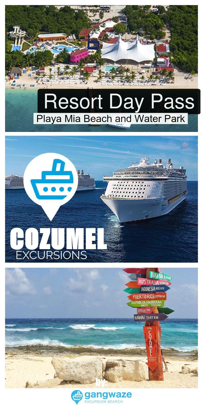 Resort Day Pass Playa Mia Beach Water Park Cruise Excursion