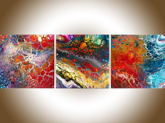 Abstract painting wall art original artwork on canvas textured decor home also rh pinterest