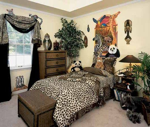 High Quality African Safari Jungle Bedroom Decor