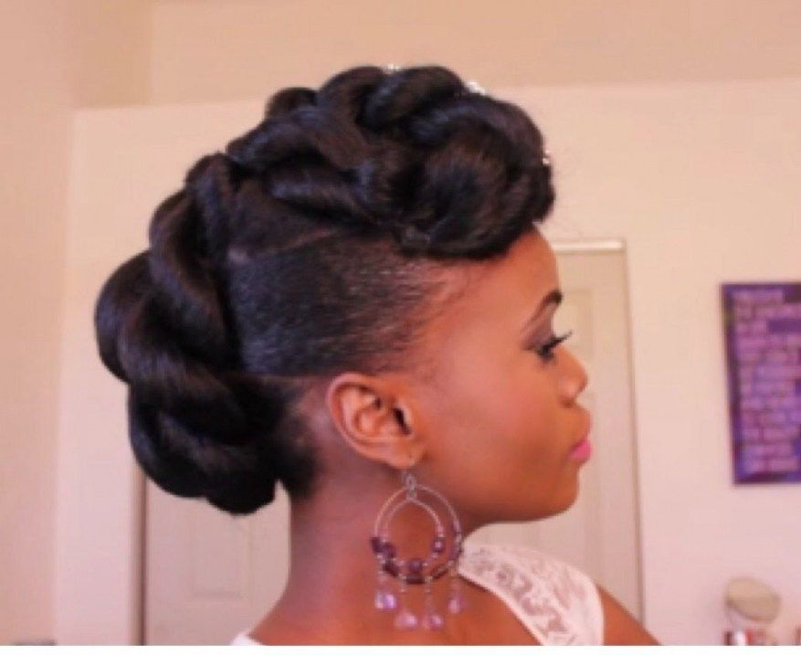 African American Hairstyles For Wedding Guests | Natural hair updo, Hair styles