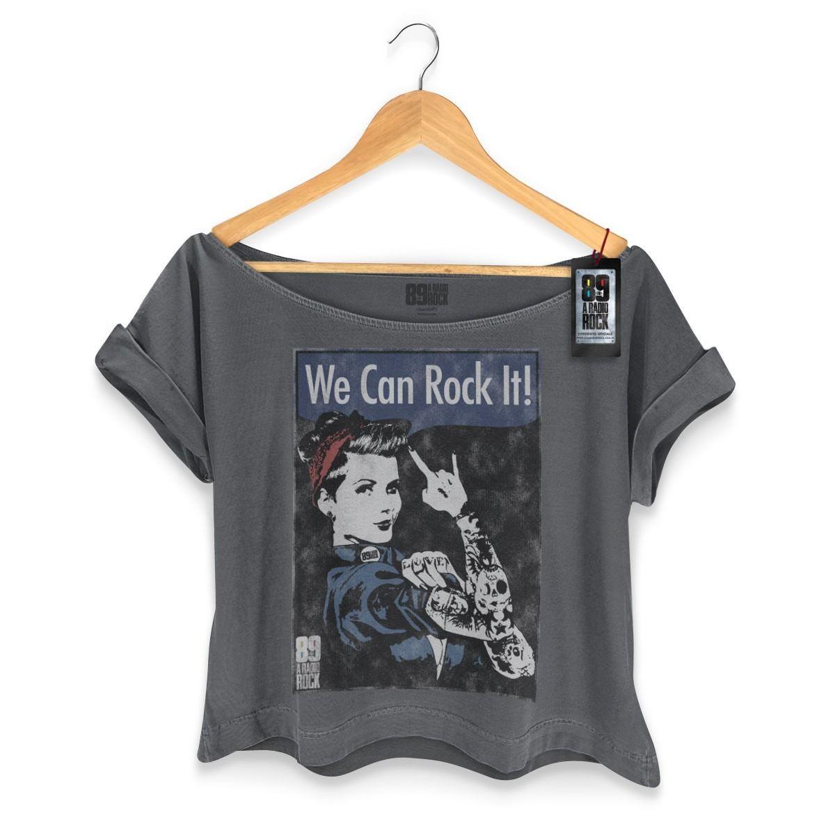 1af2ad3043 T-shirt Premium Feminina 89fm We Can Rock It! - R  79