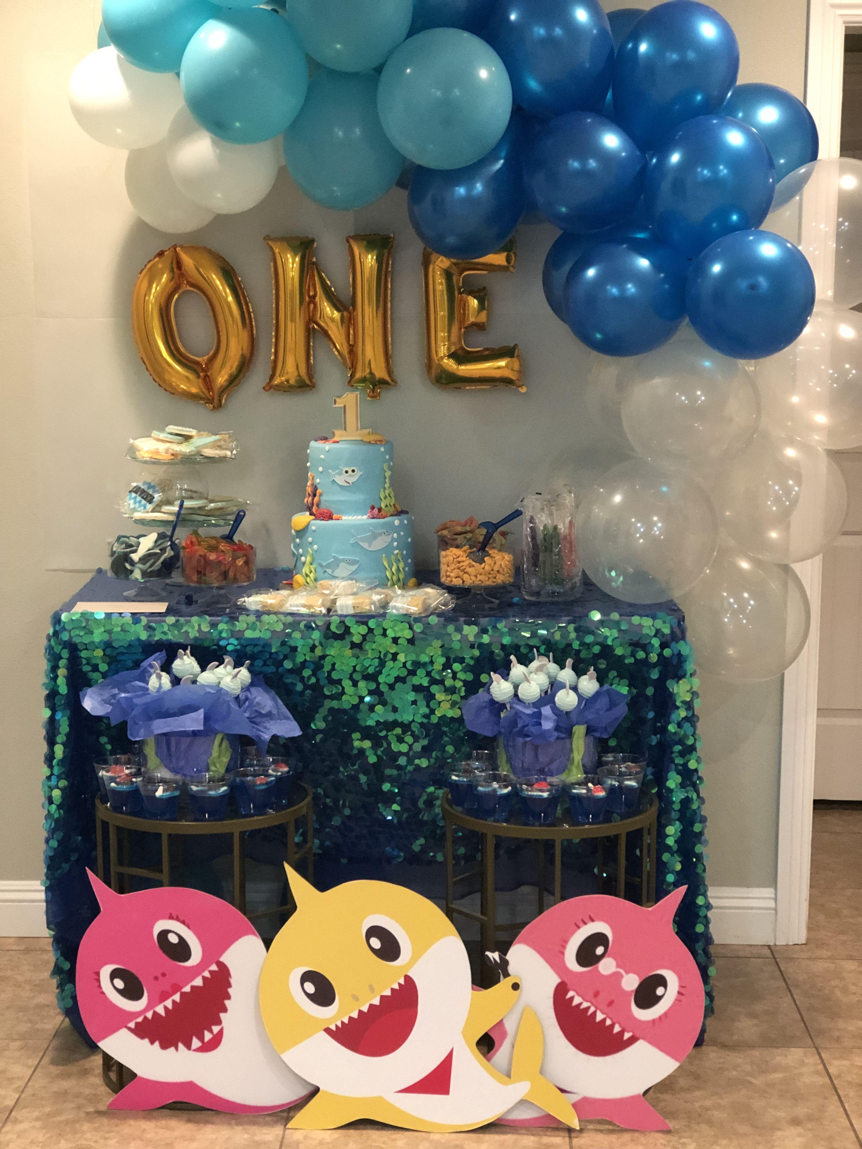 Baby Shark Shark Themed Birthday Party 2nd Birthday Party