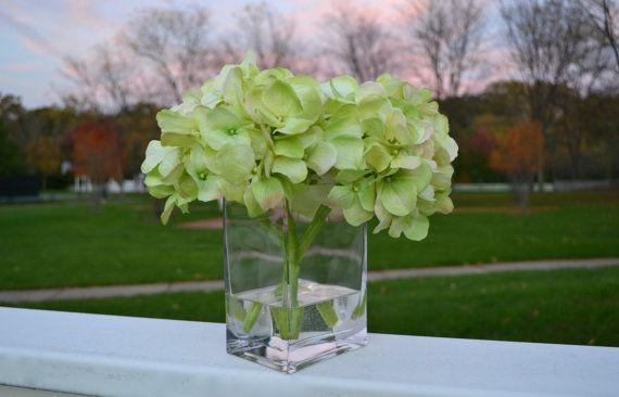 Hydrangea flower arrangement green by chicagosilkflorist on etsy hydrangea flower arrangement green by chicagosilkflorist on etsy fauxflowers hydrangeas silkflowers fauxflowersinwater mightylinksfo