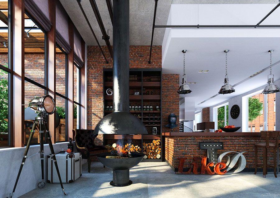 Arredamento Loft ~ Arredamento stile industriale per loft 11 inside pinterest