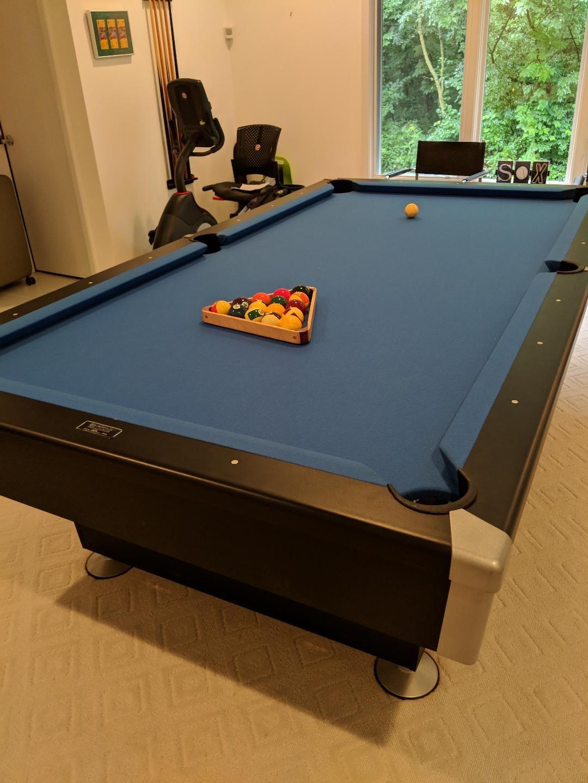 Brunswick Billiards 8 Foot Geneva Pool Table Used Pool Tables Pool Table Pool Tables For Sale