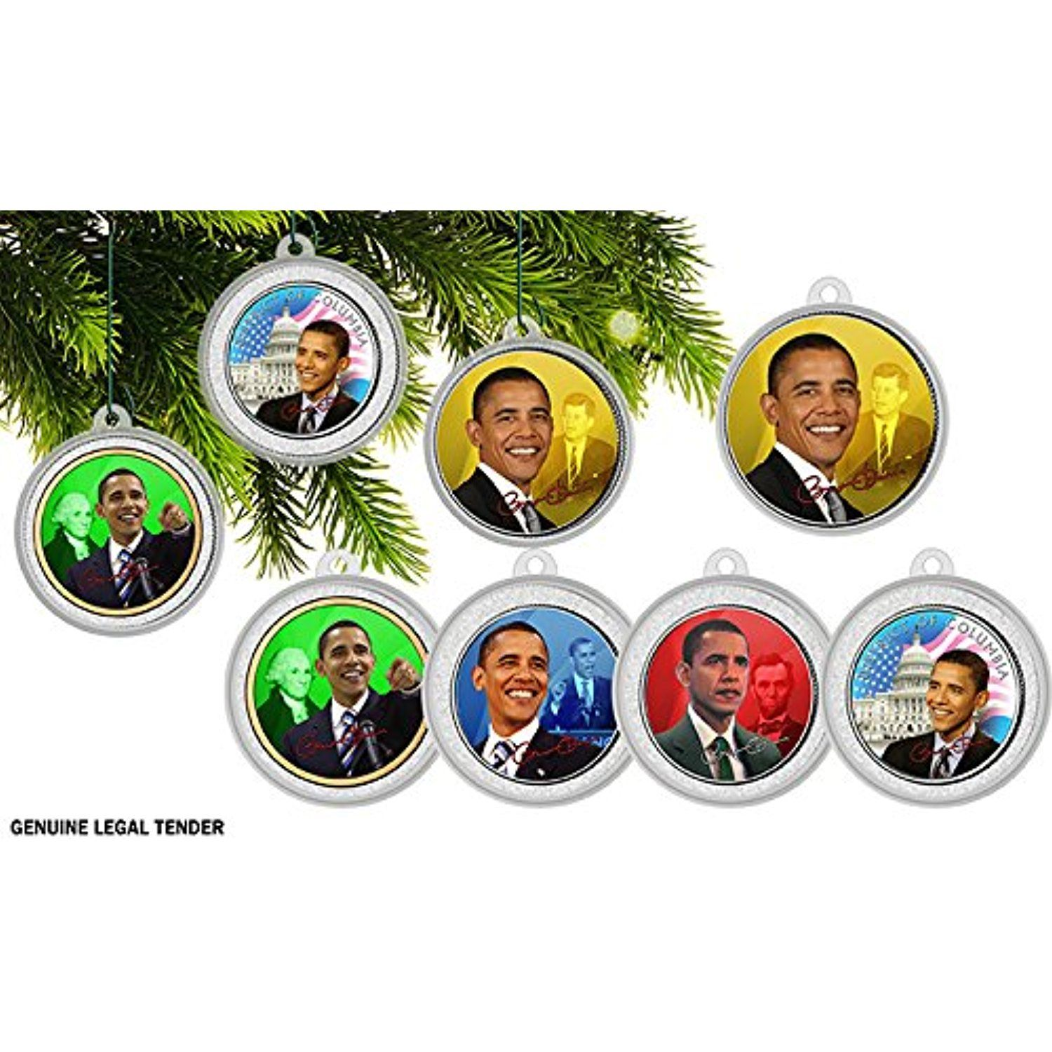 The President Obama Authentic 5 coin Christmas tree ...