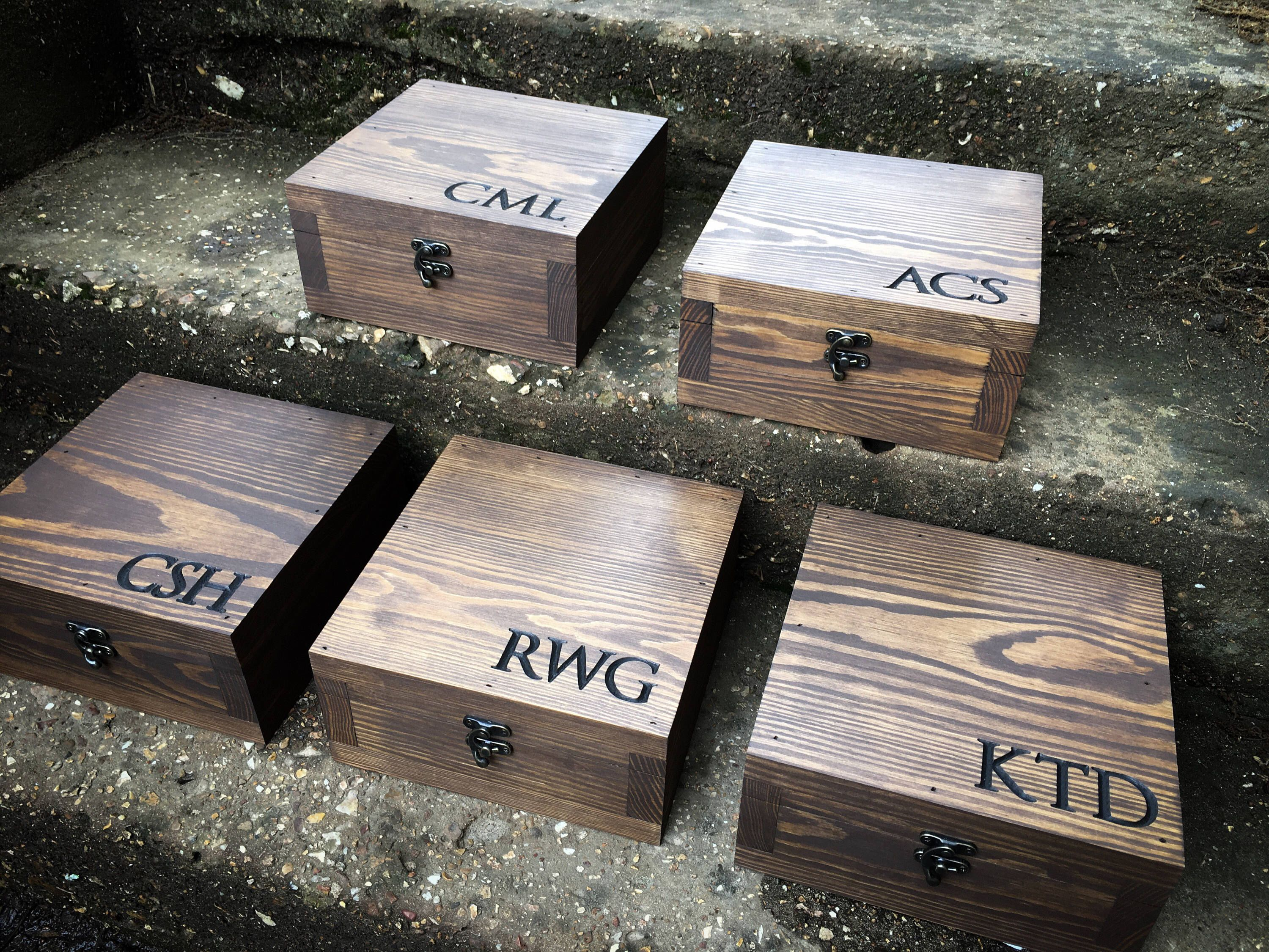 Groomsmen Gift Set, Wooden Boxes, Wooden Groomsmen Boxes