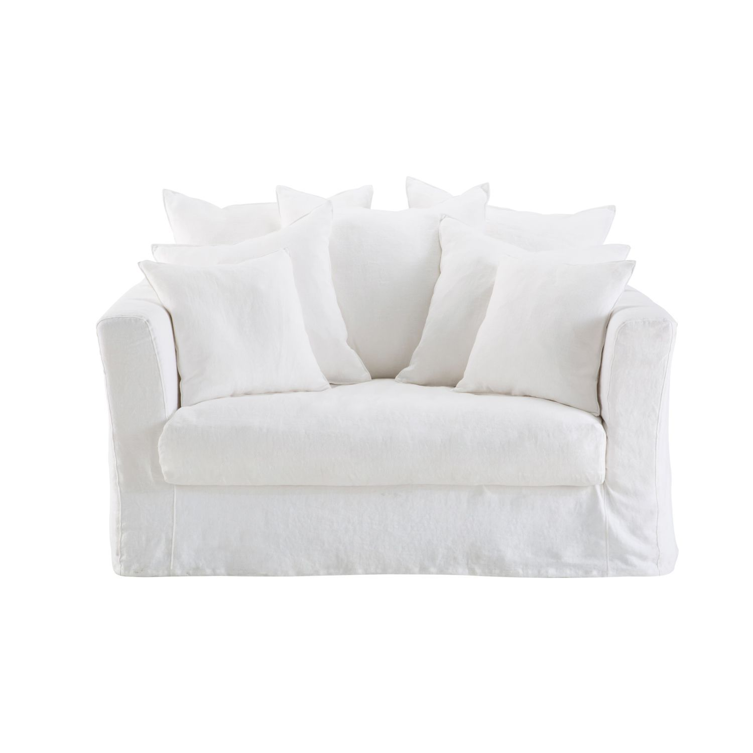 Does The Bartholome White Linen 1 2 Seater Sofa Bed Not Just Make You Want To Snuggle Up In Its Cushions The Epi Lit Maison Du Monde Canape Profond Canape Lit
