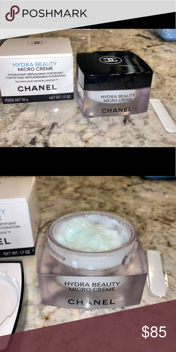 Chanel Skincare Hydra Beauty Micro Créme Used A Total Of 3 Times Comes With New Spatula Lightweight Moistur Lightweight Moisturizer Skin Care Chanel Makeup