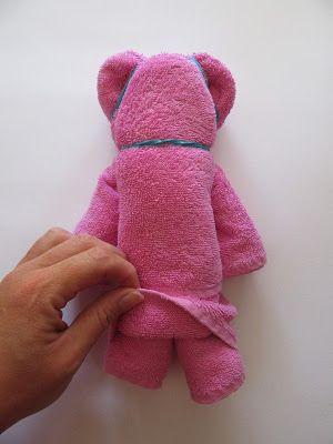 bär aus handtuch falten