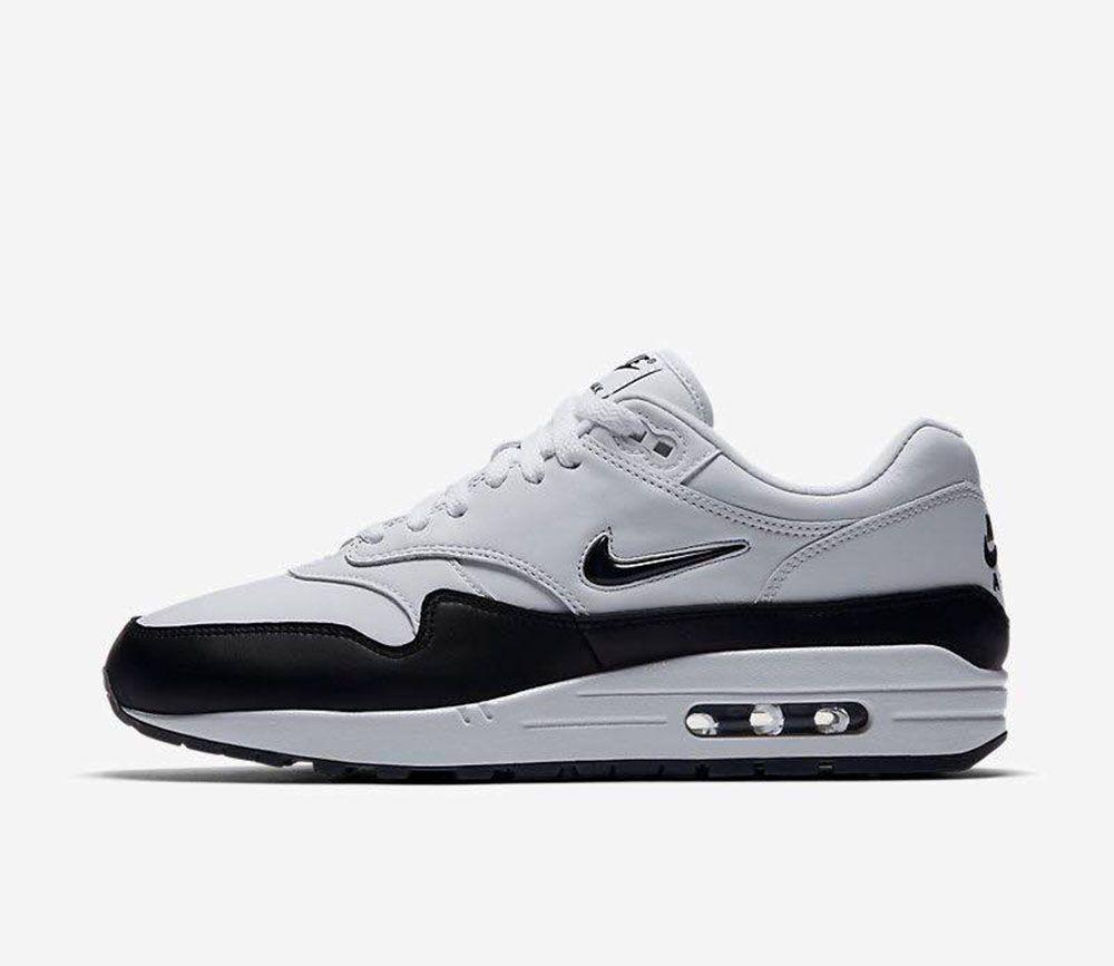 "Nike Air Max 1 Premium SC Jewel ""White Black"" | Fininho"