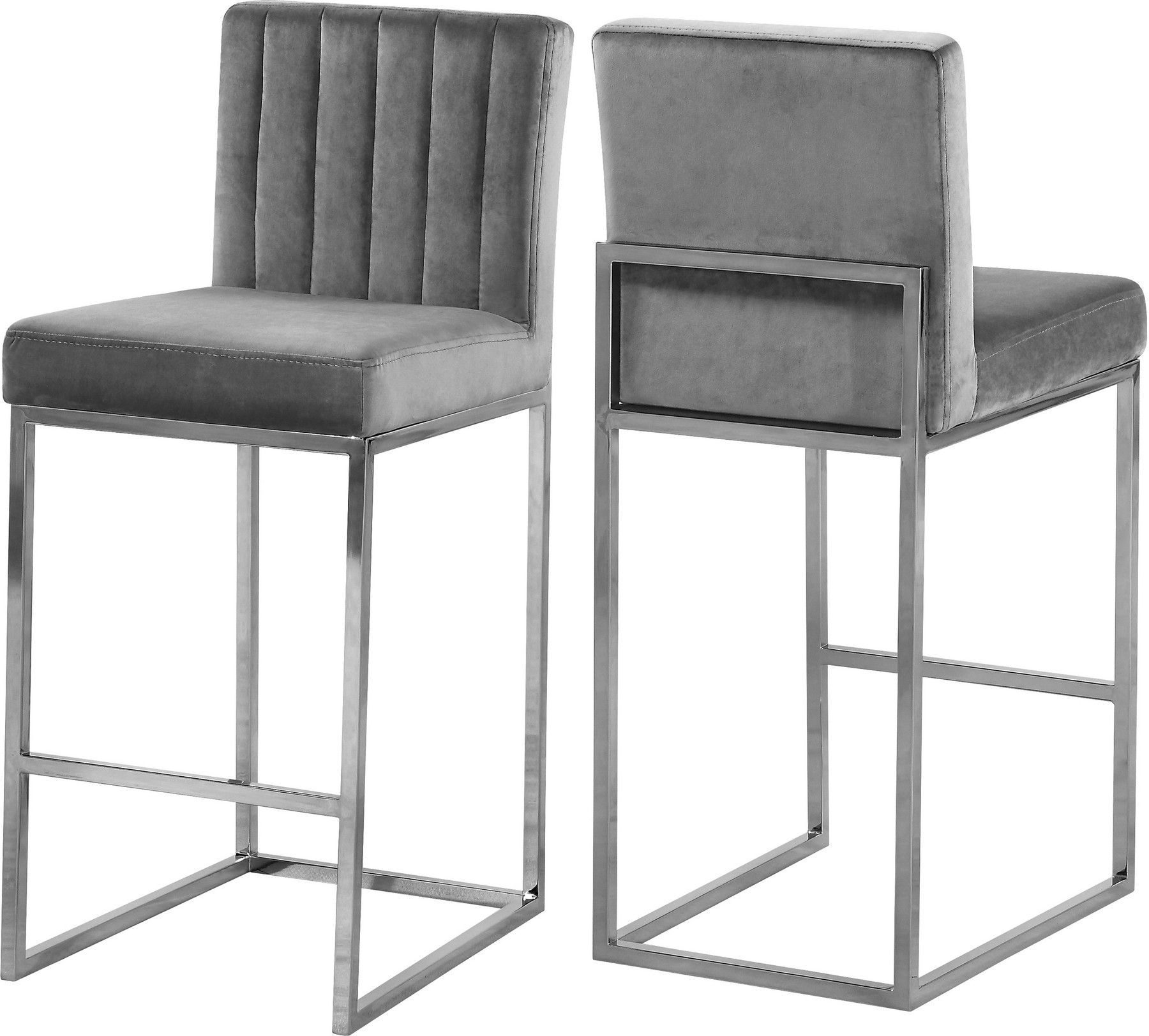 Giselle Ii Gray Bar Stool 782 Meridian Furniture Bar Tables Grey Bar Stools Contemporary Bar Stools Meridian Furniture