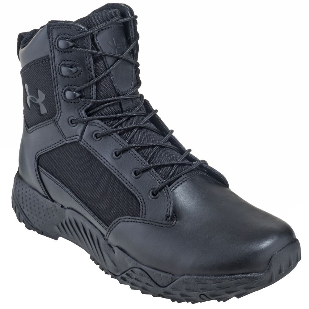 Under armour leather work gloves - Under Armour Men S 1268951 001 Black Leather Nylon Stellar Tactical Work Boots