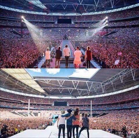 Un año despues, mismo estadio, un miembro menos, igual de fuertes. :'(