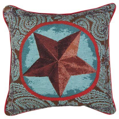 Manual Western Star Red Decorative Pillow Hayneedle