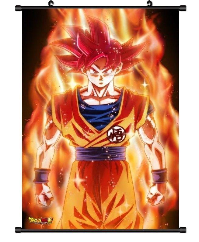 Hot Japan Anime Dragon Ball Z Goku Home Decor Poster Wall Scroll 8