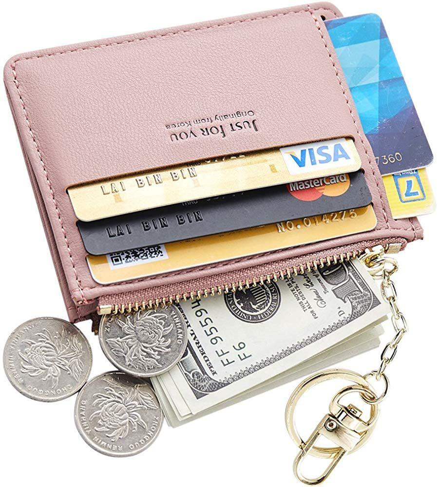 Cyanb slim leather credit card case holder
