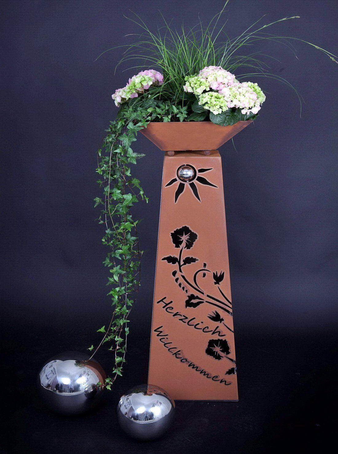 Rost Saule Schale Rs102 S11 Saulen Konisch Herzlich Willkommen Kostenloser Versand Gartensaulen Saulen Deko Blumen Amaz Saule Deko Deko Blumen Jabo Design