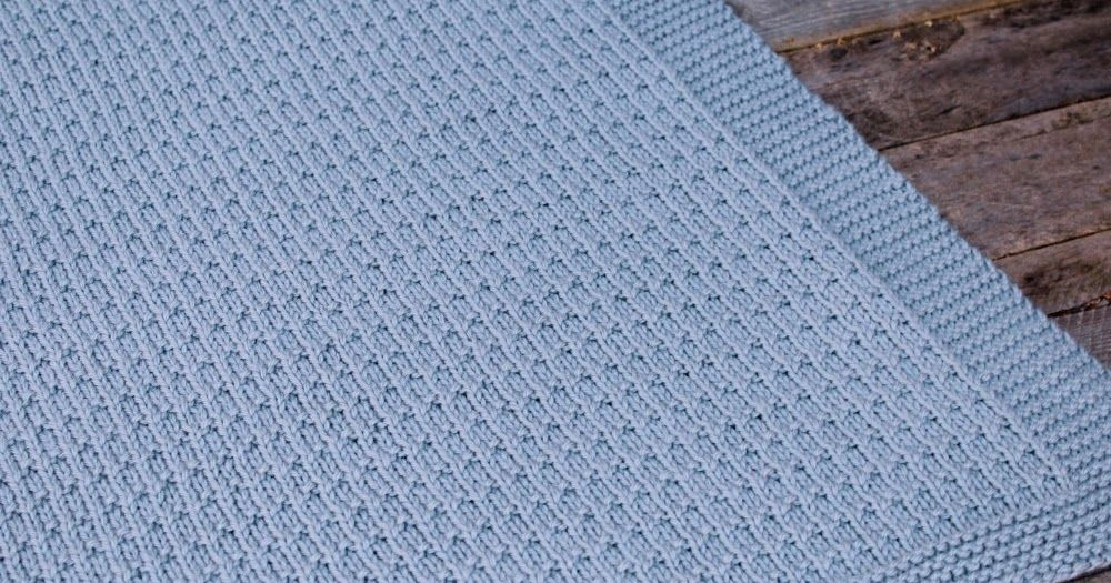 Avaya Knit Baby Blanket Worsted Pattern - Free Knitting Pattern ...