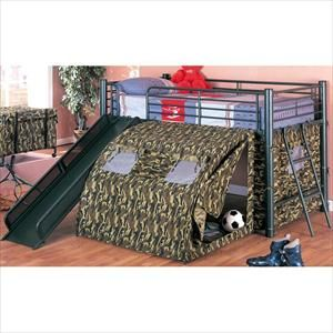 Twin Loft Bed With Tent And Slide Nebraska Furniture