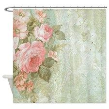 Cute Shabby Chic Shower Curtain