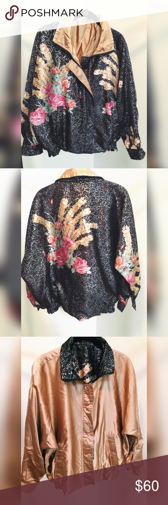 Reversible silk windbreaker Flashy yet classy! Jackets & Coats