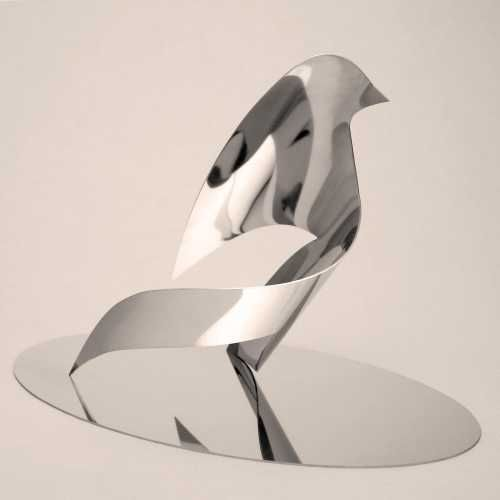 stainless steel animal form: abstract #sculpture#sculptor teo