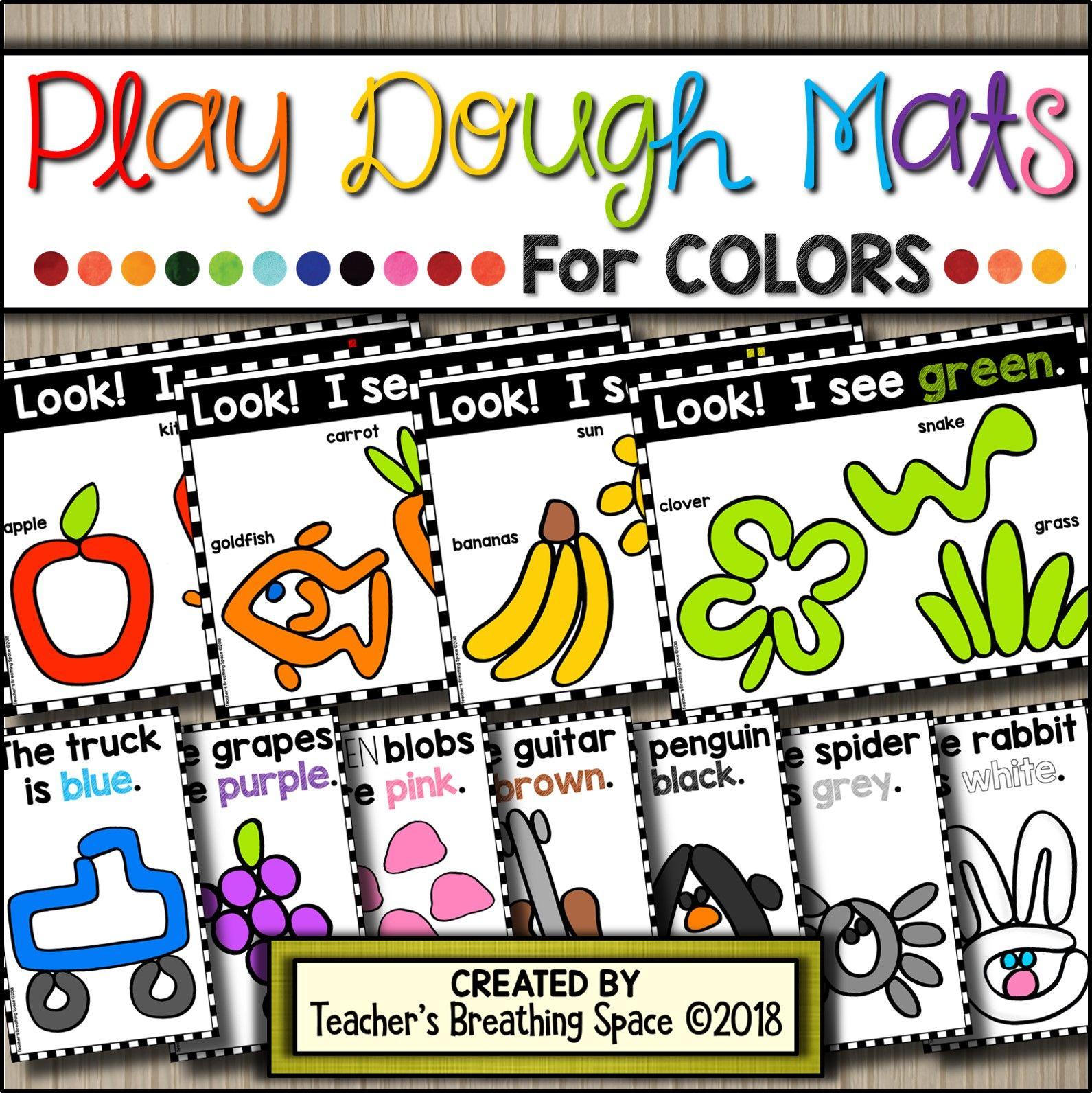 Color Play Dough Mats Play Dough Mats For Exploring