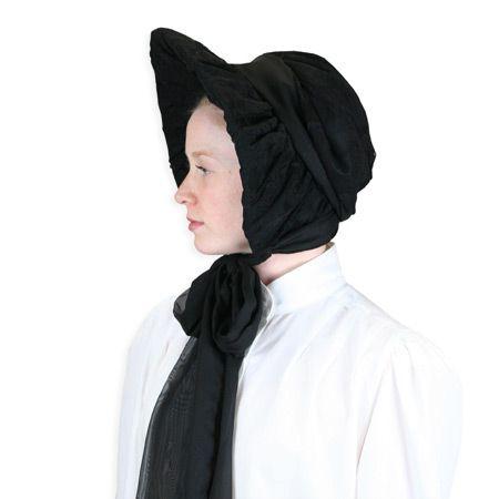 a903b42f62c Lace Victorian Bonnet - Black