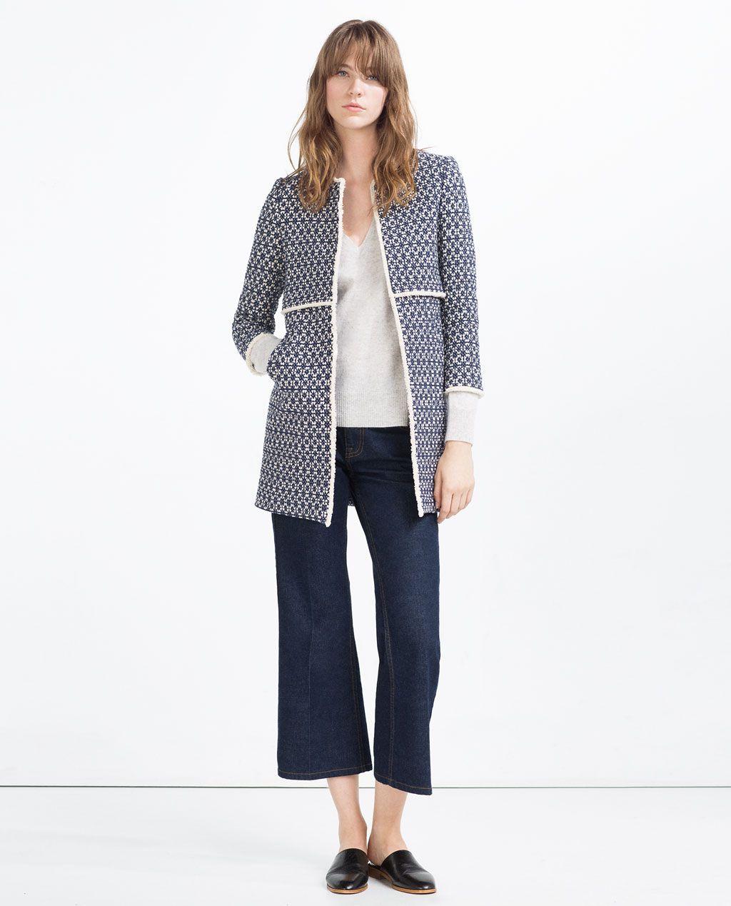 cbfe3a5d46650f Bild 1 von BEDRUCKTER MANTEL von Zara | Mode | Zara mäntel, Zara und ...
