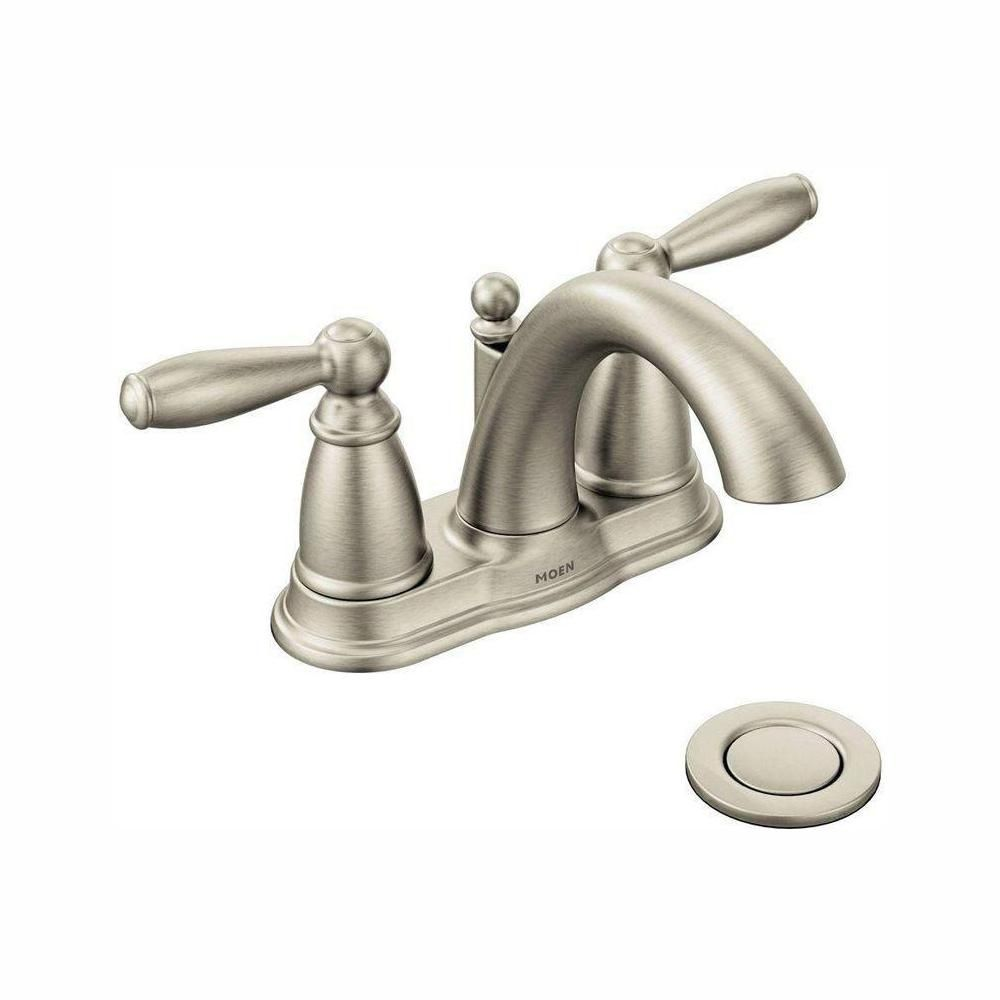 TWO HANDLE LOW ARC BATHROOM FAUCET