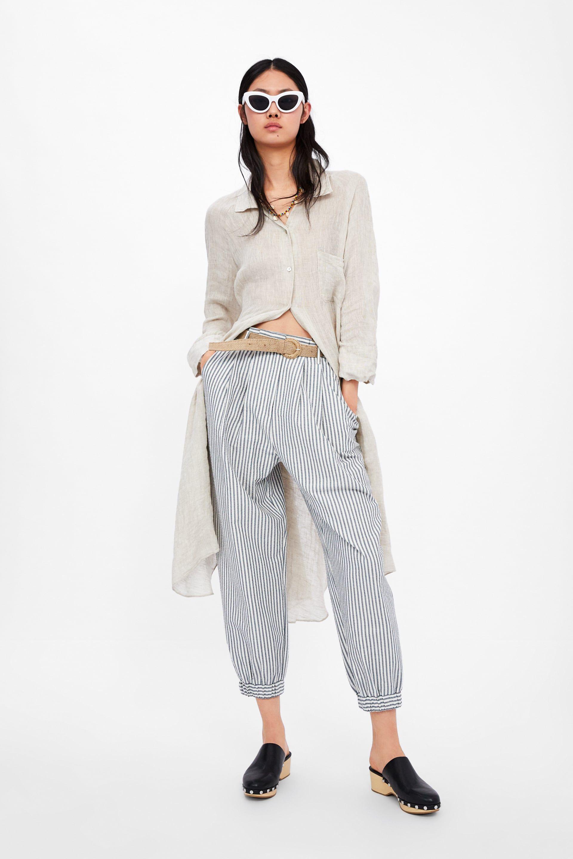 foto ufficiali f4b0d 510a5 Pantaloni slouchy a righe con cintura | Cose da comprare nel ...
