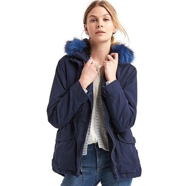 Gap Women 2 In 1 Short Hooded Parka ($198) ❤ liked on Polyvore ...
