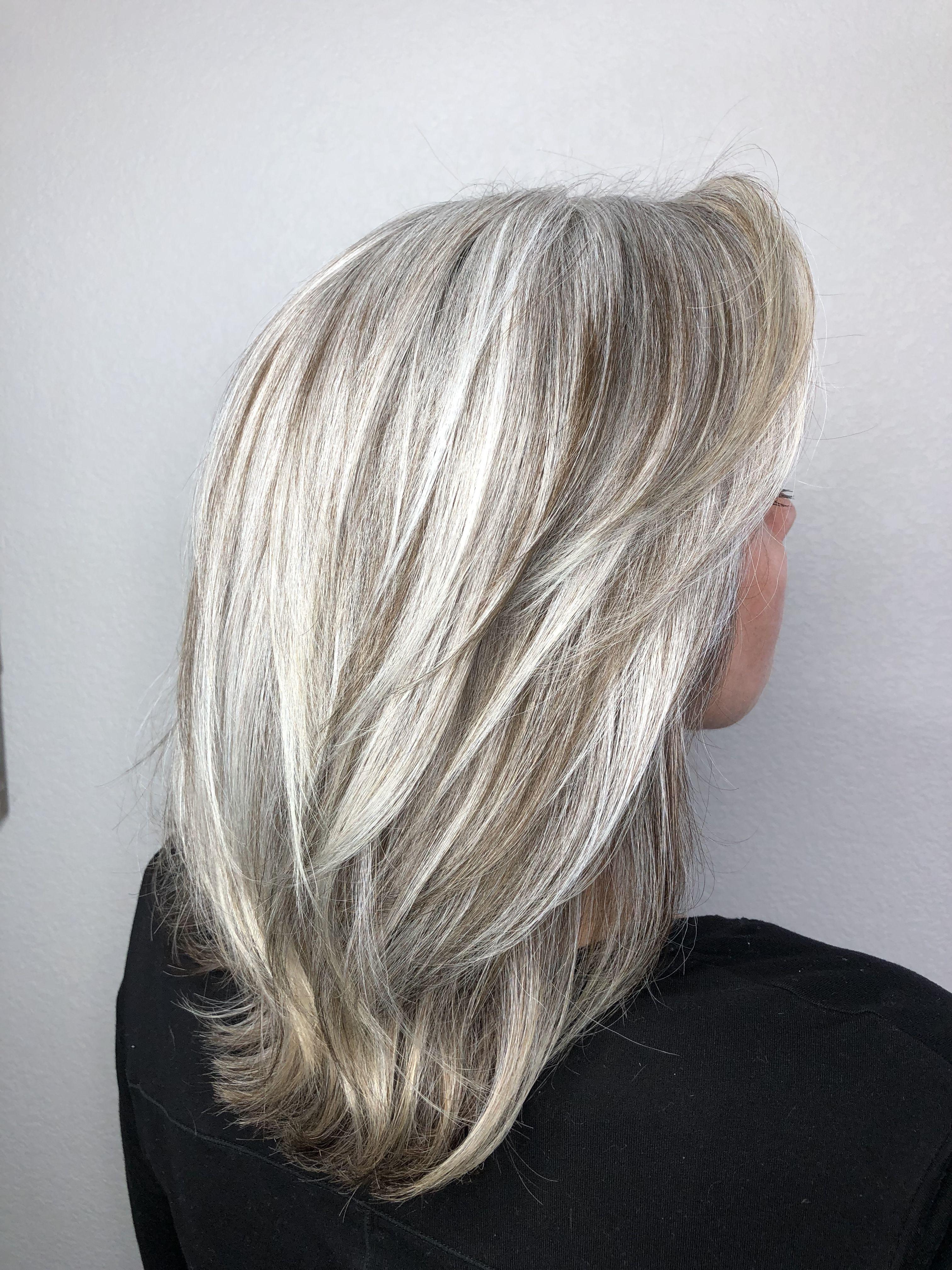 Transitioning To Grey Gray Hair Highlights Hair Styles Grey Hair Color