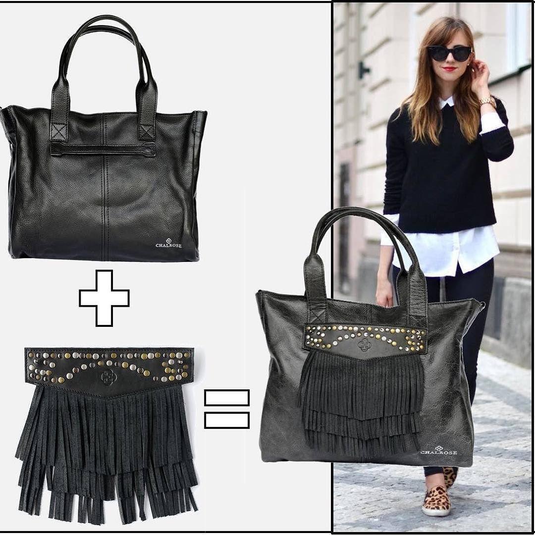 Black Bag is Back on stock! #chalrose #onebagdifferentstyles #fashion #handbags #fringe #loveit