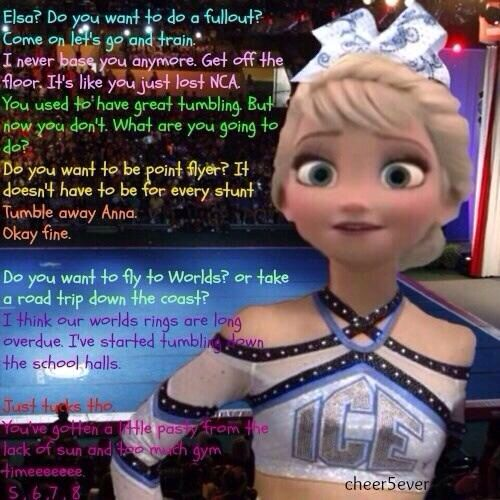 Oh My Gosh Those Lyrics Though Don T Like The Movie But This Is Great Cheer Qoutes Funny Cheer Quotes Tumbling Cheer