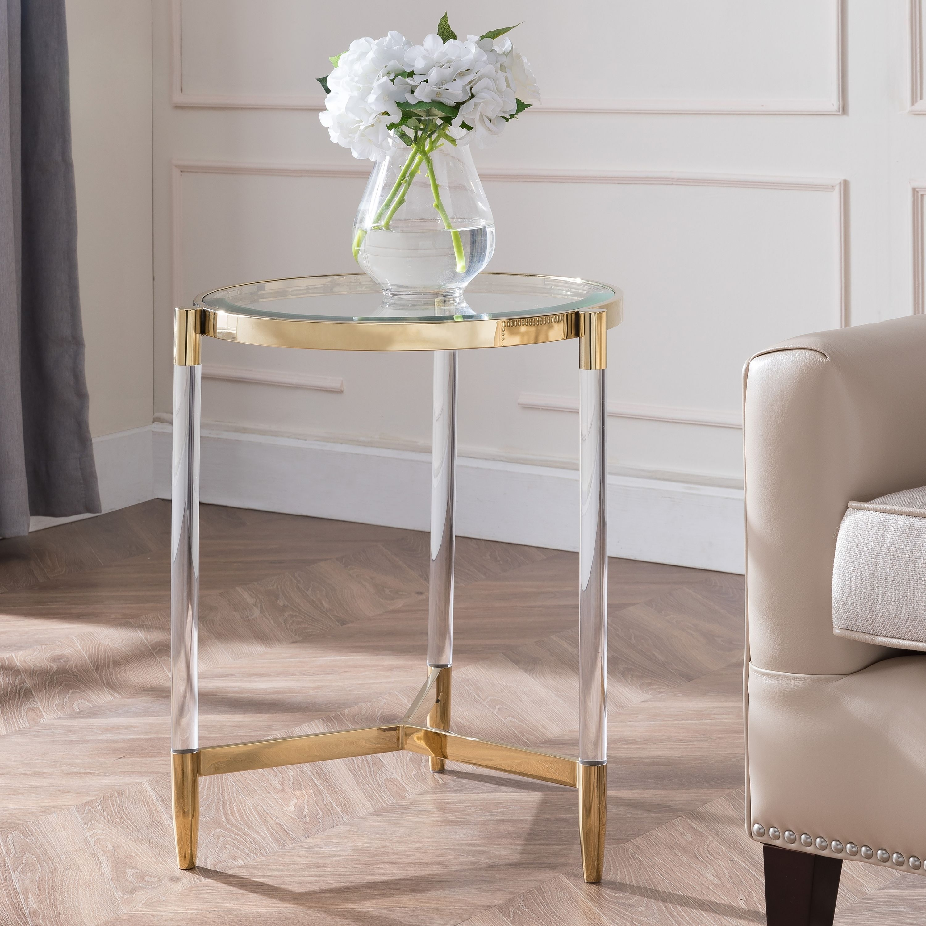 Harper Blvd Cevelo Acrylic End Table Acrylic Furniture End Tables Metallic Accents Living Room
