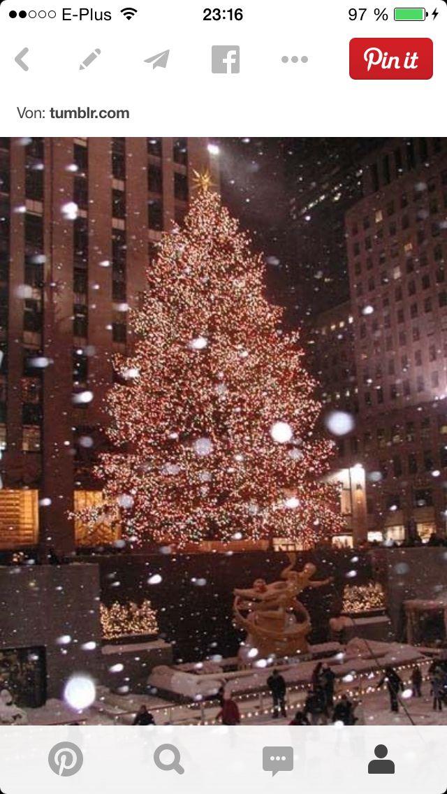 Weihnachtsbaum   New york weihnachten, Weihnachtslichter, Landschaft