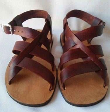 4db59ba33d sandália masculina em couro totalmente artesanal solado pneu ...