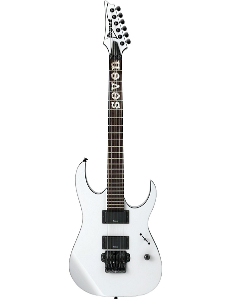 Mick Thomson signature guitar. Ibanez guitars. I love this guitar's  color, outline in black, the custom fretboard writing, the headstock, and sound. Perfect guitar on sale for 800$