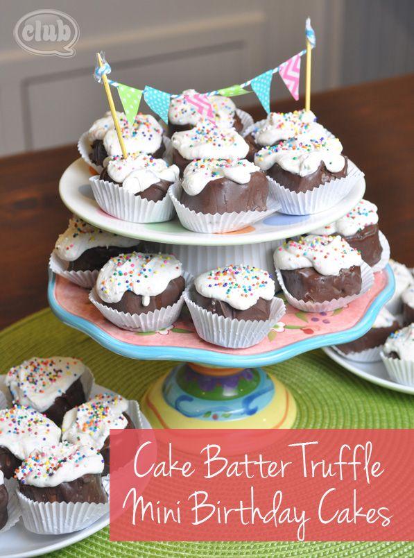 Mini Cake Batter Birthday Cake Truffles easy nobake recipe