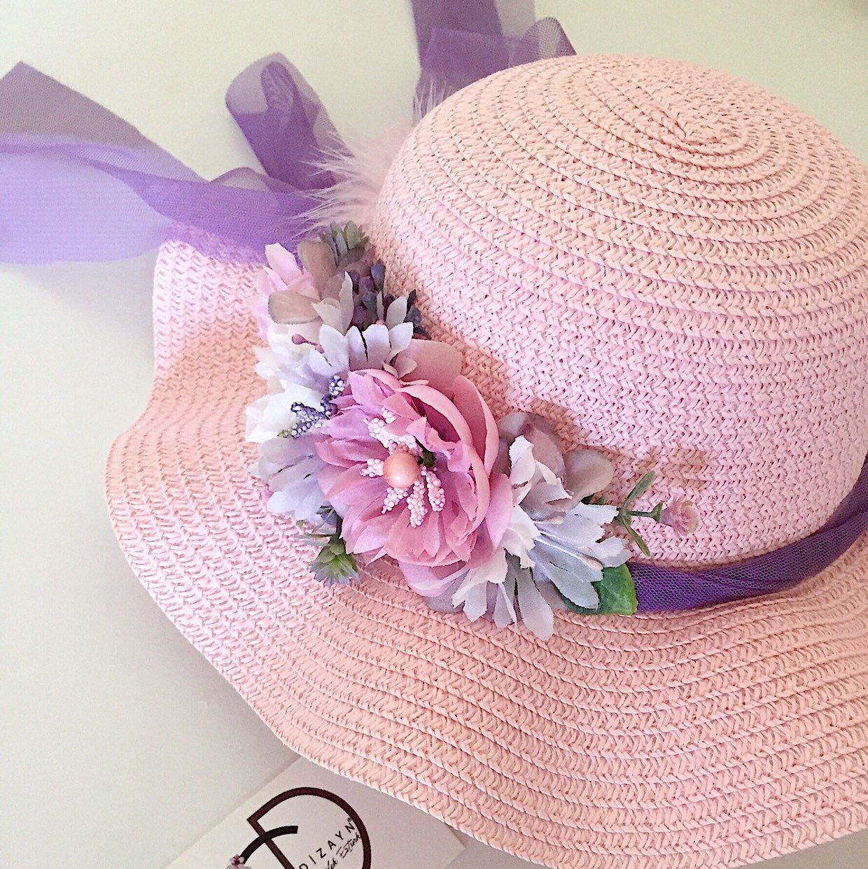 Baby Toddler Summer Hat Lilac Summer Hat Baby Girl Sun Hat Sun Bonnet Baby Shower Gift Vintage Style Sun Bonnet Lilac Bow Sun Hat