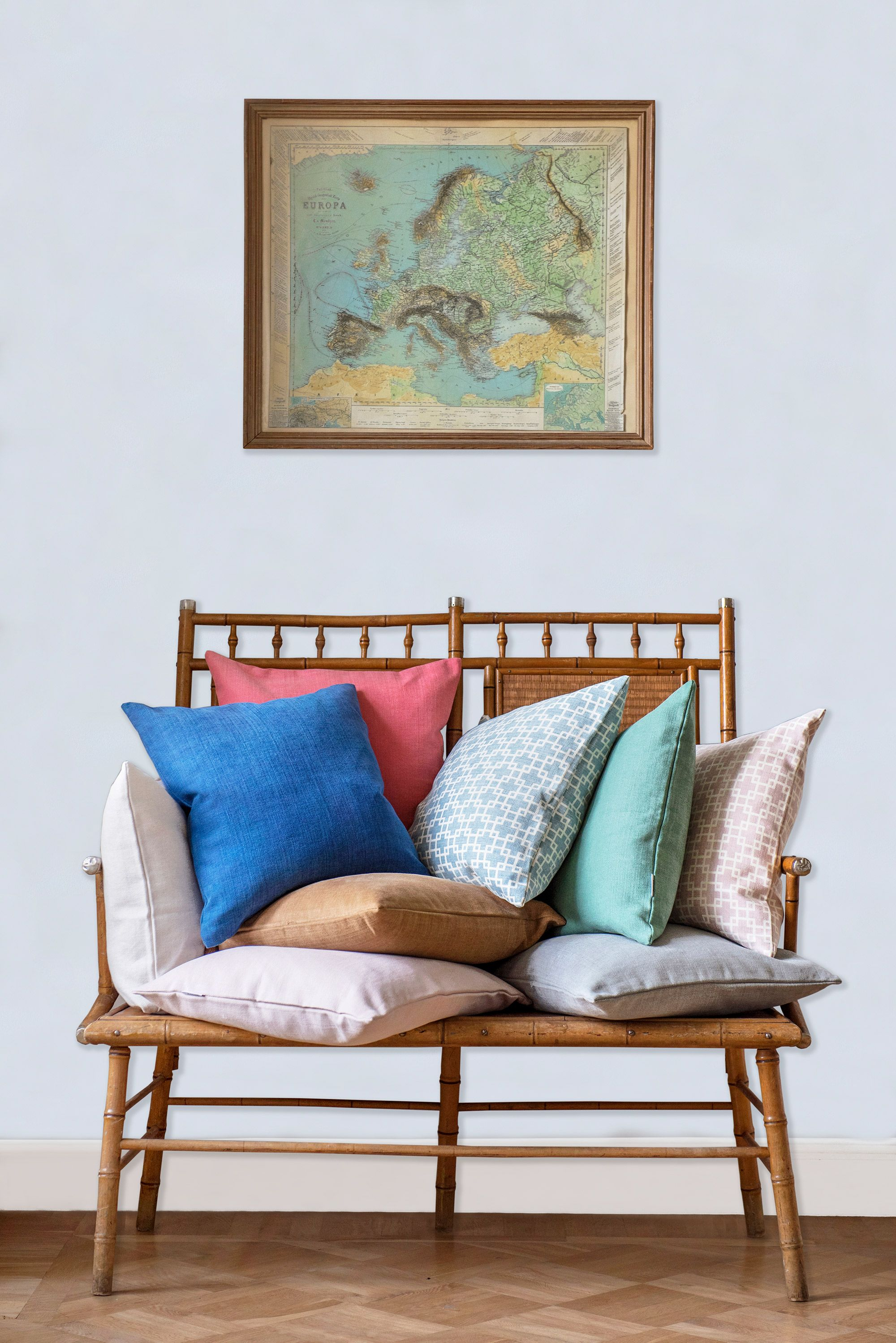 Gentil That Vintage Rattan Bench Though | Scatter Cushions Galore | Bemz X Romo  Cushions For IKEA Furniture | Elevate Your Sofa Game With Sofa Pillows