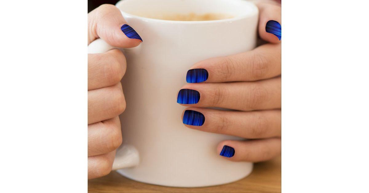 Blue Streaks Minx® Nail Wraps