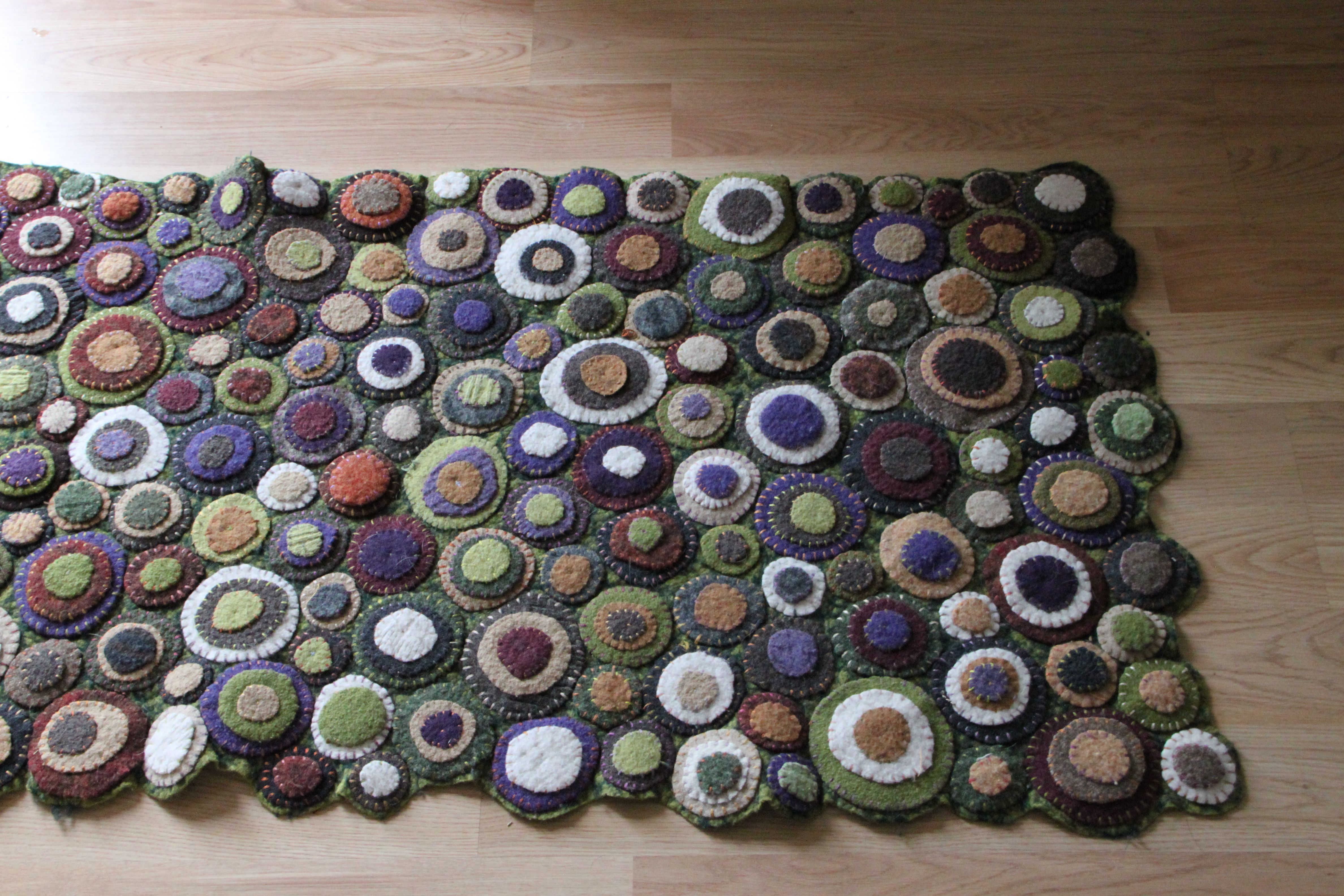 Recycled Wool Sweater Rug Felted