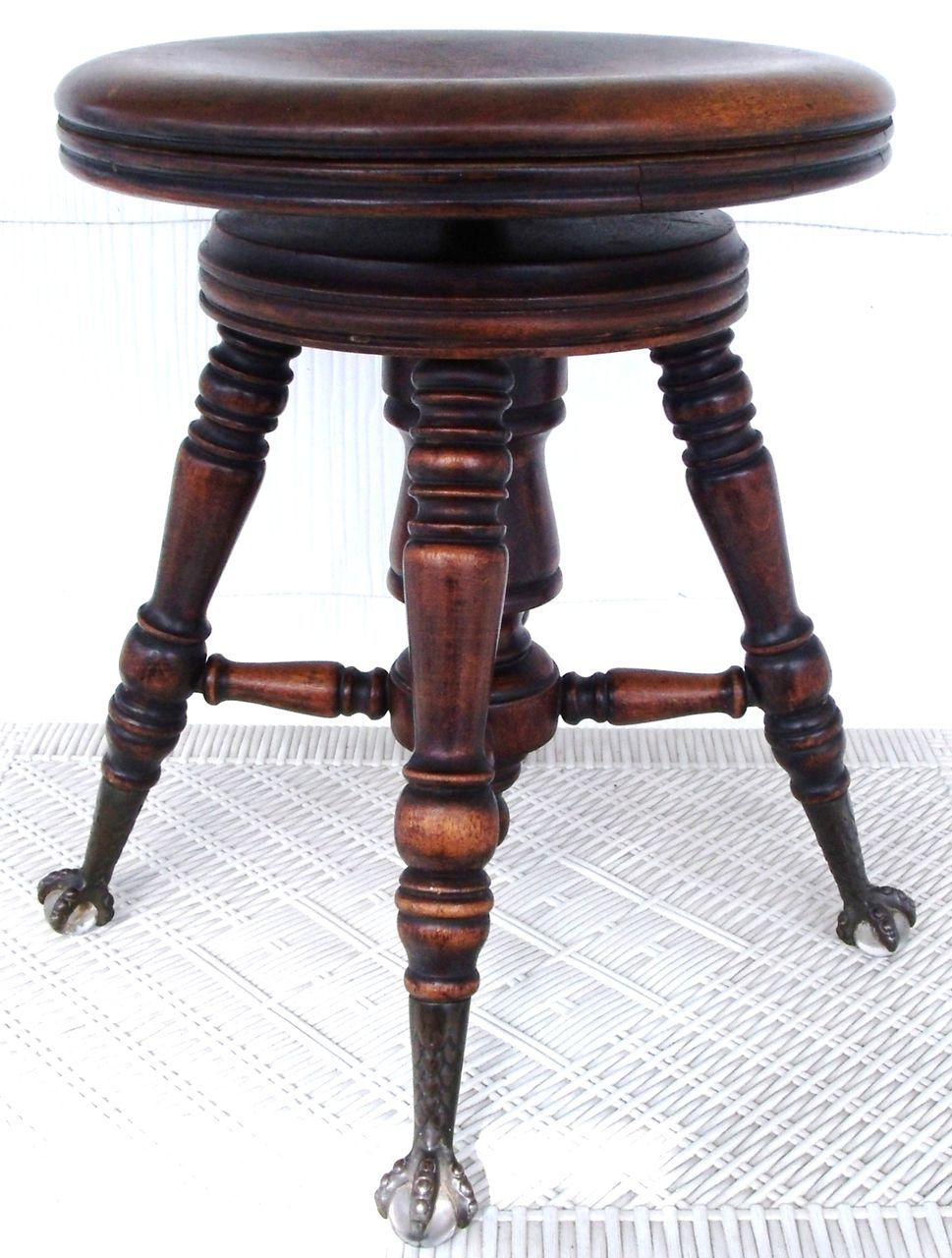 Phenomenal Antique Victorian Ball Claw Footed Swivel Piano Stool A Short Links Chair Design For Home Short Linksinfo
