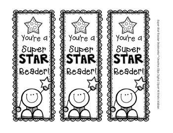 {Freebie!} Star Reader Bookmarks {Creative Clips Digital